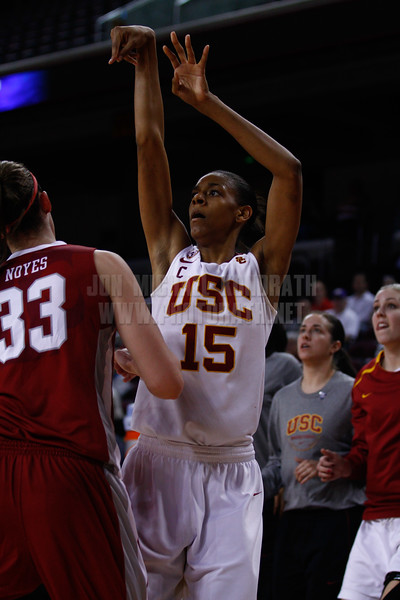 Pac-10 Tournament Round 1 - Cassie Harberts leads USC with 31 points to a victory over WSU (78-66)<br /> WBKvWSU_Pac10T_030911_Kondrath_0633
