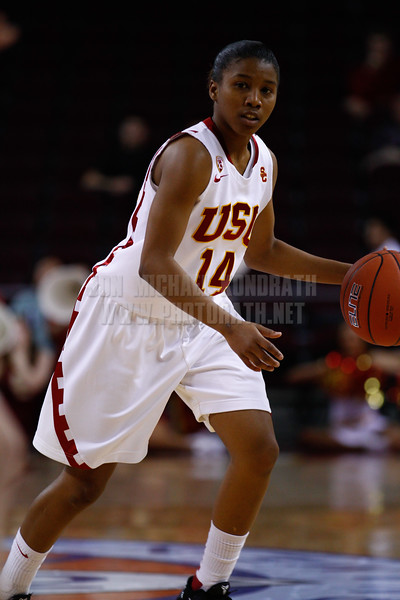 Pac-10 Tournament Round 1 - Cassie Harberts leads USC with 31 points to a victory over WSU (78-66)<br /> WBKvWSU_Pac10T_030911_Kondrath_0132