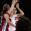Pac-10 Tournament Round 1 - Cassie Harberts leads USC with 31 points to a victory over WSU (78-66)<br /> WBKvWSU_Pac10T_030911_Kondrath_0856