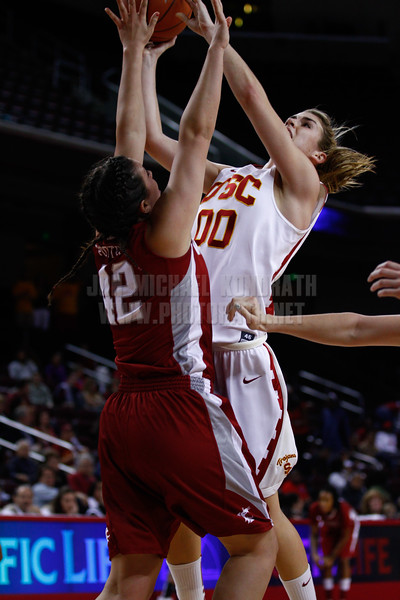 Pac-10 Tournament Round 1 - Cassie Harberts leads USC with 31 points to a victory over WSU (78-66)<br /> WBKvWSU_Pac10T_030911_Kondrath_0235
