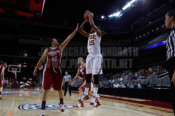 Pac-10 Tournament Round 1 - Cassie Harberts leads USC with 31 points to a victory over WSU (78-66)<br /> WBKvWSU_Pac10T_030911_Kondrath_0409