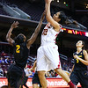 01/26/2013:<br /> Kiki Alofaituli, sophmore guard for the Women of Troy, puts up a layup against Arizona State.<br /> 01/26/2013:<br /> Kiki Alofaituli, sophmore guard for the Women of Troy, puts up a layup against Arizona State.