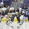 Boston Pride vs Buffalo Beauts in Isoble Cup final for the National Women's Hockey League championship. From left, Pride's Blake Bolden (10) and Rachel Llanes (91) and Beauts' Hayley Scamurra (14). (SUN/Julia Malakie)