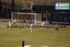 US attacks goal, Lori Chalupny with ball