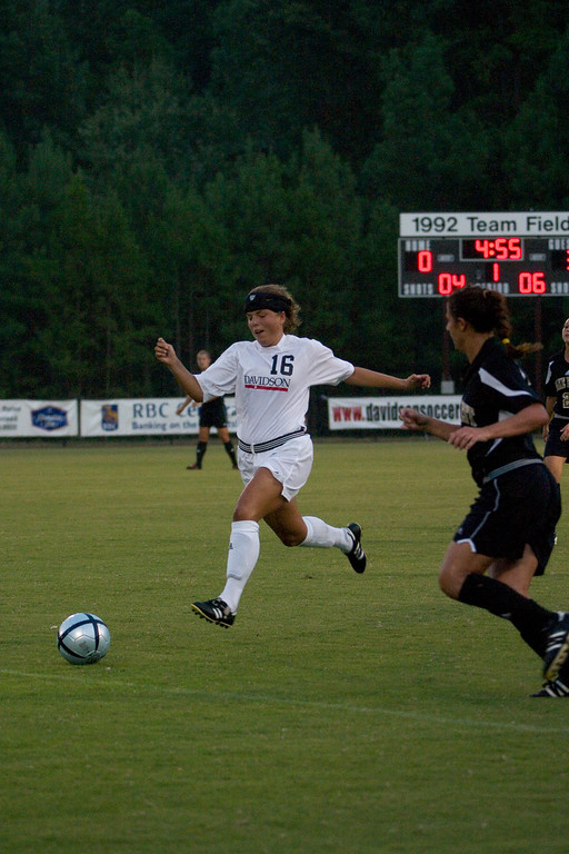 davidson college versus wake forest university women's soccer ncaa sports photos