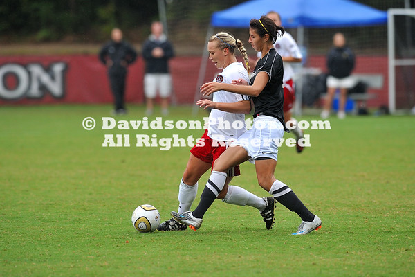26 September 2010: Davidson and Wofford play to a 2-2 OT tie at Alumni Field in Davidson, North Carolina.