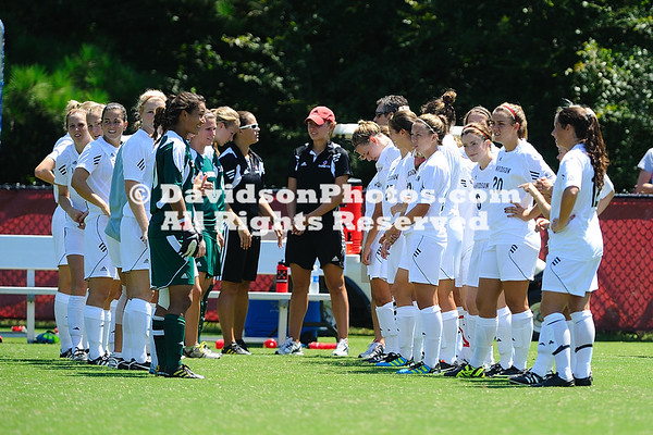 28 August 2011:  Davidson women's soccer falls to Florida Gulf Coast 2-1 at Alumni Soccer Stadium in Davidson, North Carolina.