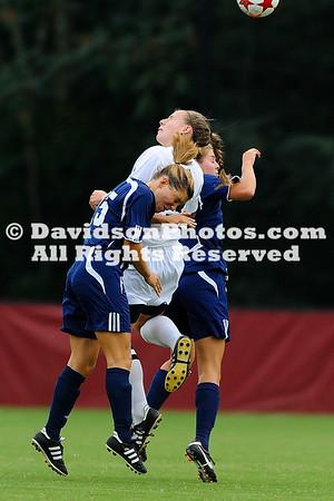 04 September 2011:  Davidson takes on UNC-Wilmington in women's soccer action at Alumni Soccer Stadium in Davidson, North Carolina.