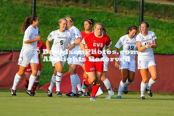 13 August 2012: Davidson takes on Gardner-Webb in preseason women's soccer action at Alumni Soccer Stadium in Davidson, North Carolina.