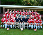 13 August 2012: Davidson women's soccer poses for team pictures at Alumni Soccer Stadium in Davidson, North Carolina.