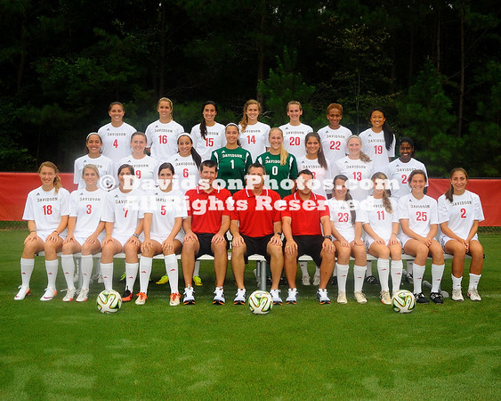 NCAA WOMENS SOCCER:  AUG 12 Davidson Team and Head Shots