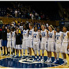 Happy faces.  Undefeated for the season (9-0), Duke wins 77-63 against #10 California. <br /> <br /> Duke vs California Women's Basketball