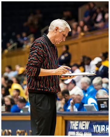 Duke Assistant Coach Al Brown and his sweater de jour<br /> Duke vs California Women's Basketball<br /> <br /> Cameron Indoor Stadium<br /> Duke University<br /> Durham, NC