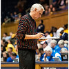 Duke Assistant Coach Al Brown and his sweater de jour<br /> Duke vs California Women's Basketball<br /> <br /> Cameron Indoor Stadium<br /> Duke University<br /> Durham, NC