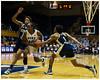 Chelsea Gray (#12) dealing with very aggressive defense from Aaliyah Whiteside (#2) and Dawnn Maye (#1)<br /> Duke vs Georgia Tech WBB<br /> <br /> Cameron Indoor Stadium<br /> Duke University<br /> Durham, NC<br /> December 6, 2012