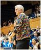 Assistant Coach Al Brown and his sweater<br /> Duke vs Georgia Tech WBB<br /> <br /> Cameron Indoor Stadium<br /> Duke University<br /> Durham, NC<br /> December 6, 2012