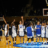 The Duke Women's Basketball team celebrates their win over LSU in the regional finals of the 2010 NCAA Tournament. nship.<br /> <br /> Cameron Indoor Stadium<br /> <br /> Duke University<br /> <br /> March 22, 2010