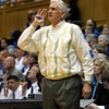 Assistant Coach Al Brown and one of his many sweaters at the Women's NCAA Regional Championship.<br /> <br /> Cameron Indoor Stadium<br /> <br /> Duke University<br /> <br /> March 22, 2010