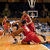 Chloe Well (Duke) grabs the basketball from Allysa Thomas (MD 25)<br /> Cameron Indoor Stadium<br /> Duke University<br /> Durham, NC <br /> January 6, 2011