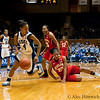 Chloe Wells (Duke, 4) steals the ball rom Alyssa Thomas (MD, 25)<br /> Cameron Indoor Stadium<br /> Duke University<br /> Durham, NC <br /> January 6, 2011