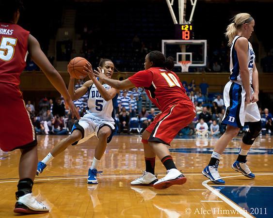 Jasmine Thomas (Duke, 5)<br /> <br /> Cameron Indoor Stadium<br /> Duke University<br /> Durham, NC <br /> January 6, 2011