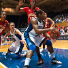 Karima Christmas grabs a rebound<br /> <br /> Cameron Indoor Stadium<br /> Duke University<br /> Durham, NC <br /> January 6, 2011