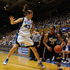 Allison Vernerey (43) guarding Maya Moore (23).