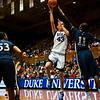 Allison Vernerey (Duke, 43) shoots over Amber Harris (Xavier, 11)<br /> <br /> Cameron Indoor Stadium<br /> Duke University<br /> Durham, NC <br /> December 21, 2010