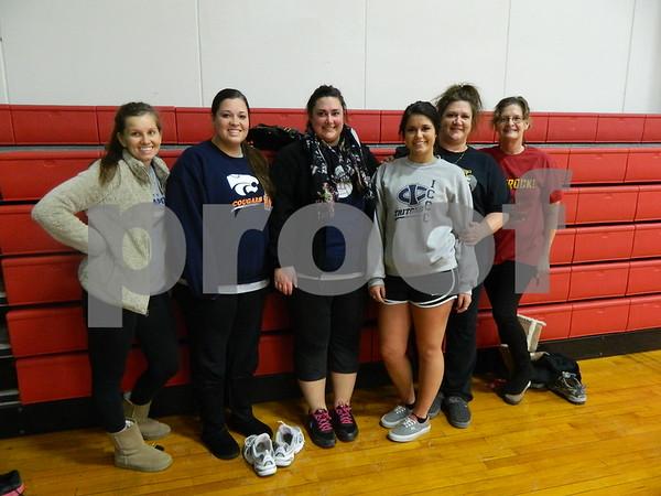left to right: Anaua Denclau, Jessica Hudson, Kelsie Hawley, Kenzie Hawley, Tracy Hawley, and Sheila Porrez