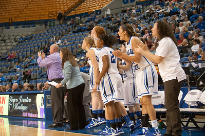 Indiana State defeats the Creighton Blue Jays in the Hulman Center.