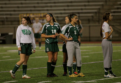 Haley Fay, Alex Johnson, Sophie Chakalo, Delilah Blacketer, Christine Horne Woodinville High Girls Varsity Soccer verse Issaquah High October 6, 2011   ©Neir