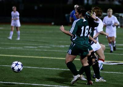 Alex Blaser, Megan McCallum  Woodinville High Girls Varsity Soccer verse Skyline High October 20, 2011, ©Neir