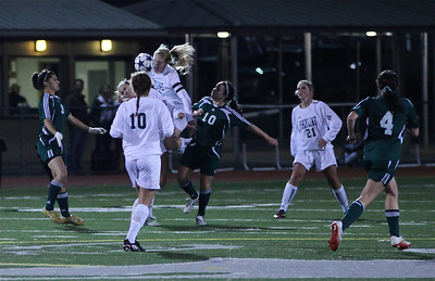 Sophie Chakalo, Reagan Quigley, Haley Fay  Woodinville High Girls Varsity Soccer verse Skyline High October 20, 2011, ©Neir