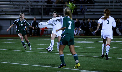 Maddie Jones, Julianne Smith  Woodinville High Girls Varsity Soccer verse Skyline High October 20, 2011, ©Neir