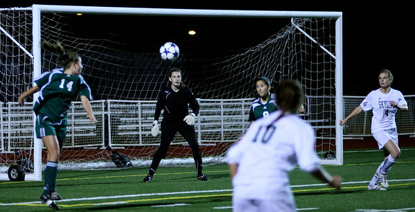 "Katrina ""Kat"" Neir, Molly Stinson  Woodinville High Girls Varsity Soccer verse Skyline High October 20, 2011, ©Neir"