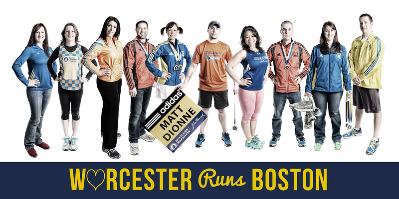 Worcester Runs Boston - 10x20 Print