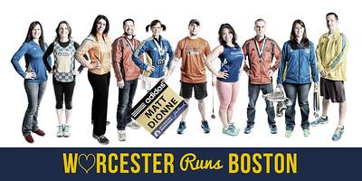 Worcester Runs Boston - 10x20 Print