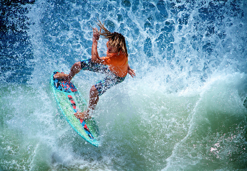 Title: Skimboard Storm<br /> Honorable Mention (Purple Ribbon) at the 14th Annual Orange Open art exhibit 2010.