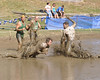 A diving catch is made by a player from the Muddas Football Club, during the title game of The World Mud Football Championship, which was played September 13th, in North Conway, New Hampshire. The Muddas defeated the Nashua Mud Gumbys, to win their 17th Mud Bowl championship.
