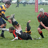 Kevin Harris reaches for a loose ball during the Ohio Rugby Classic at Lou Berliner Park on Saturday.