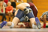 Keith Gillam and Dave Ketron wrestle during the DB vs Sullivan South match. Photo by Erica Yoon