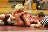 Sullivan East's Joey Owens takes control over Jackson Cox of DB in the 171 pound division. Photo by Erica Yoon