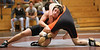 Dobyns-Bennett Taylor Hylemon and Morristown East Philip Laton in the 189lbs. weight class. Photo by Erica Yoon