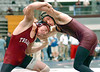 Dobyns Bennett's Jake Pewitt, right battles with Morristown West's Andrew Brimer, left, during the D-B Indian Classic Wrestling. Photo by Ned Jilton II