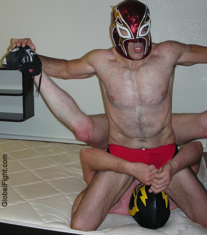 a tight chests muscleboys college guys wrestling