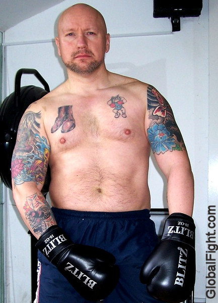 a tattooed tuff boxer bulge bear
