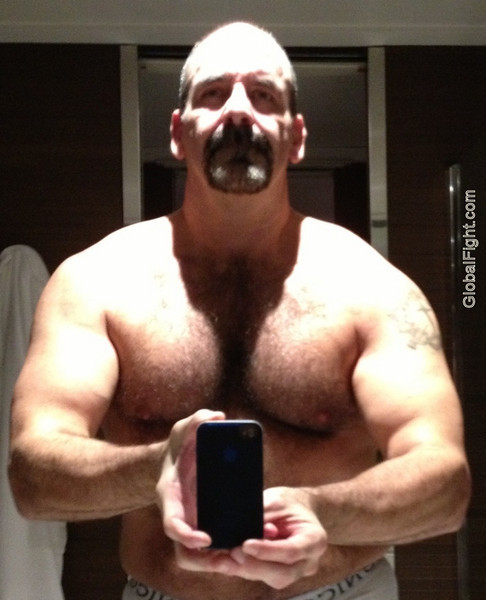 goatee dad big fuzzy pecs furry chest pics