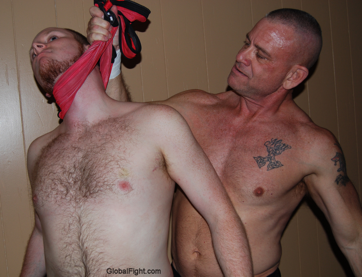 ginger redhead dude getting choked
