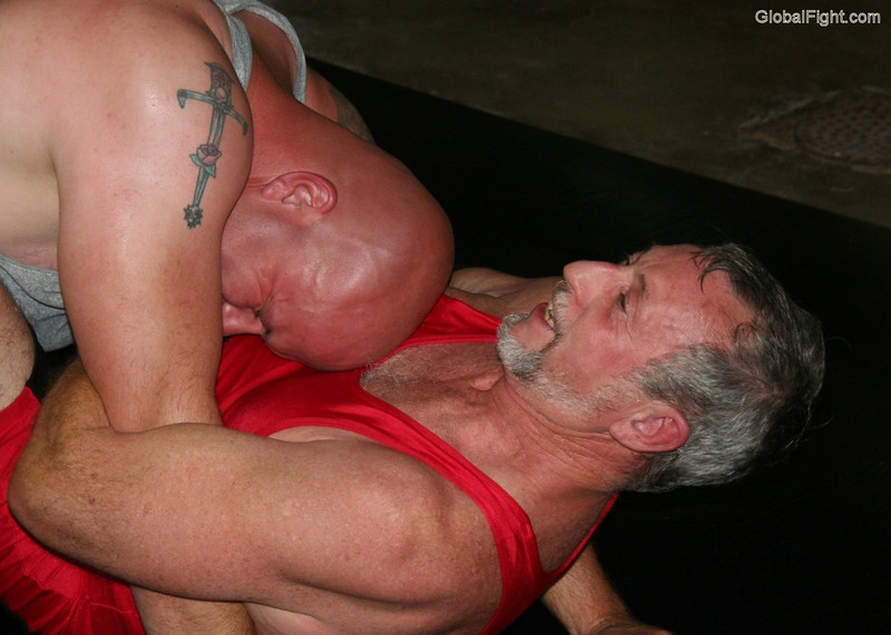 a tattooed daddies wrestling hot bears