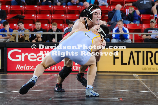 22 January 2012:  Chattanooga won seven of the eight contested bouts en route to a 47-3 victory over Davidson in Southern Conference wrestling action Sunday afternoon at Belk Arena in Davidson, North Carolina.